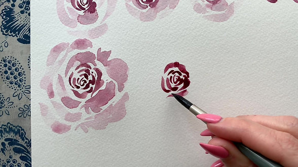 Loose Watercolor Roses