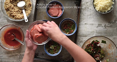 Quinoa Pepperoni Bowls