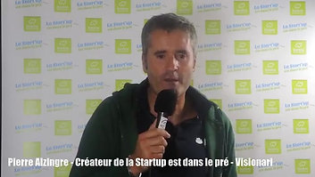 Pierre Alzingre Createur de la Startup est dans le pré