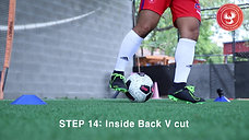 Step 14. Inside Back V cut