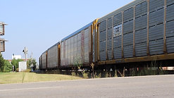 Train passes through city