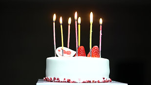 Birthday Cake Candle Get Lit and Blown Out