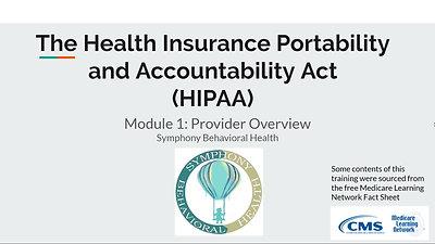 HIPAA Training Module 1