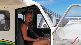 Scenic flight on Fraser Island