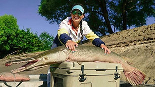 Trinity Texas home of the largest freshwater fish in North America the Alligator Gar
