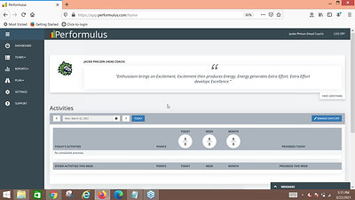 Demo: Performulus for Sports