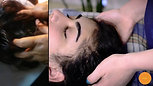 Relaxing neck and head massage