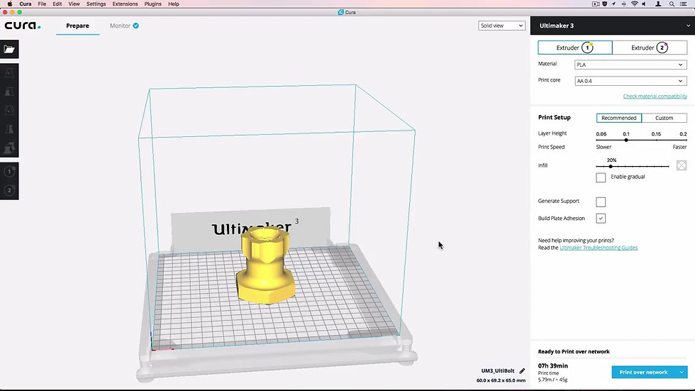 Ultimaker How to quick start Ultimaker Cura 3.0