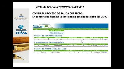 Conferencia Actualización SUIRPlus por FASE 1