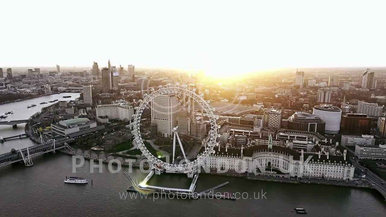Photo London UK Aerial Cityscape Video Portfolio