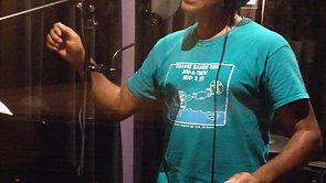 "Allan recording ""Anoint Me"""