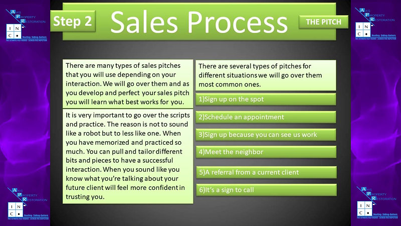 Storm Season Training Step 2 Sales Process