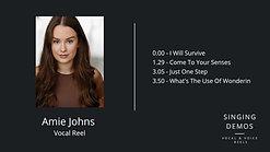 Amie Johns - Vocal Reel