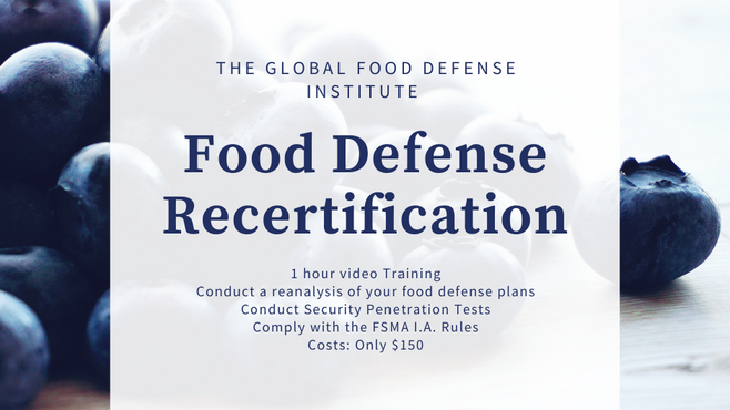Food Defense Recertification 2021
