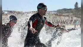 Open Water Surf Swimming