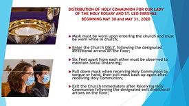 Receiving Holy Communion Procedure Blue Slide