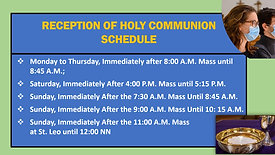 Holy Communion and Church Opening