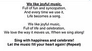We Like Joyful Music