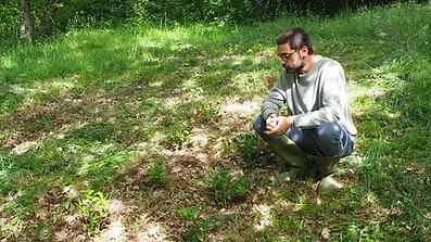 Les premiers essais au jardin
