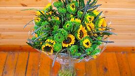 זר פרחים נווה מדבר - חמניות