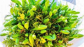 זר פרחים באר מרים ליליות ושושן - פרחי הארץ