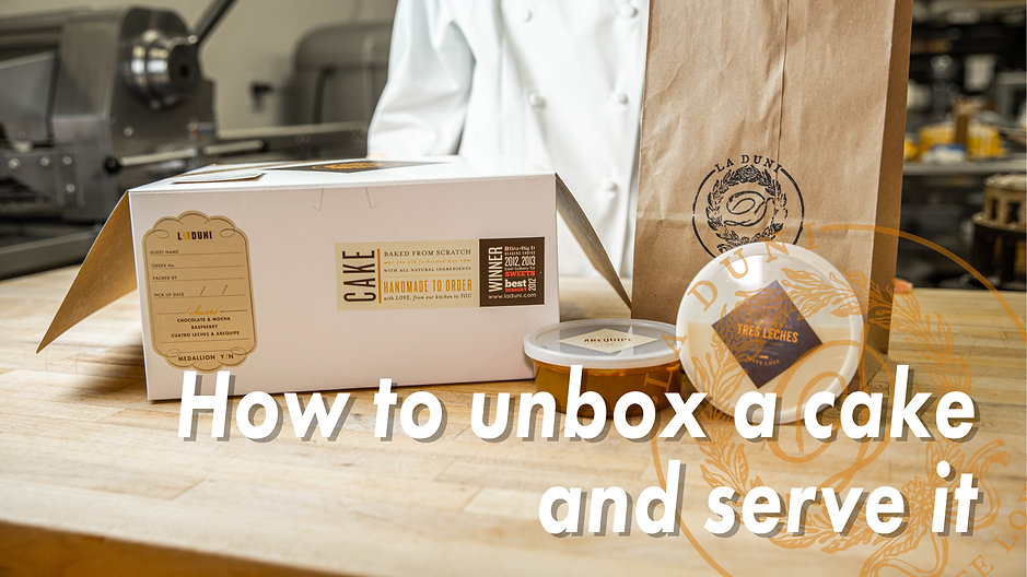 How to unbox a cake & serve it
