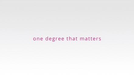One Degree That Matters