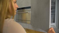 Öffnen des Kühlschrankes
