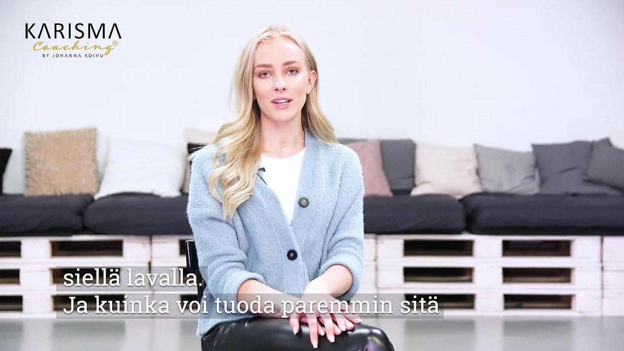 Karisma Coaching Miss Suomi 2019 Anni Harjunpää karismavalmentaja Johanna Koivusta