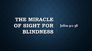 The Miracle of Sight For Blindness