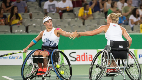 Rio 2016 Paralympic Games | Wheelchair Tennis NED v GBR | Women's Doubles Semifinals |