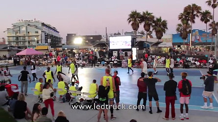 Led Truck campaing in Venice Beach for AT&T