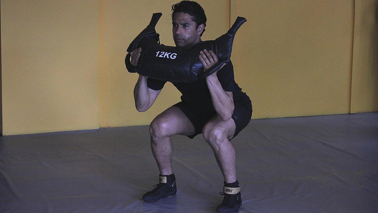 300 Bulgarian bag workout