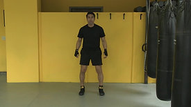 Jump squat and turn 1 minute