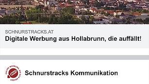 Schnurstracks-Eigenwerbung Facebook mobile