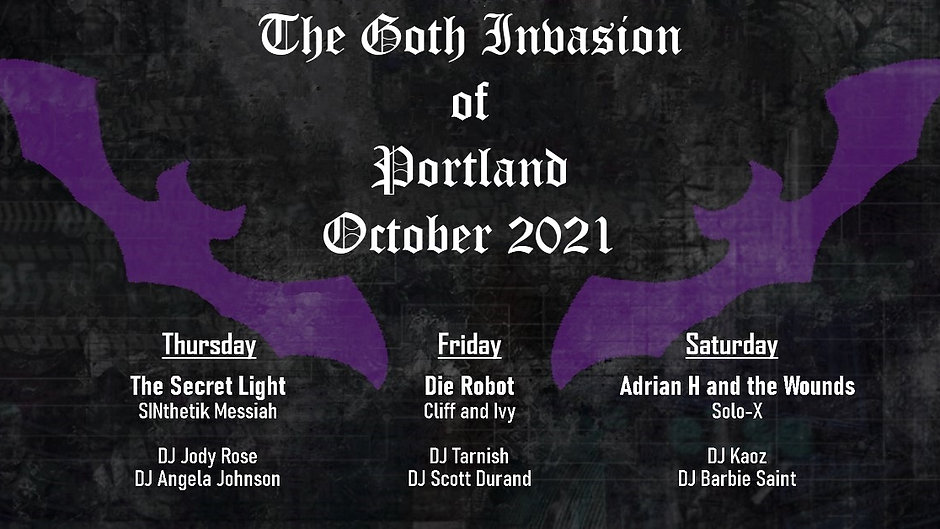 The Goth Invasion of Portland 2021