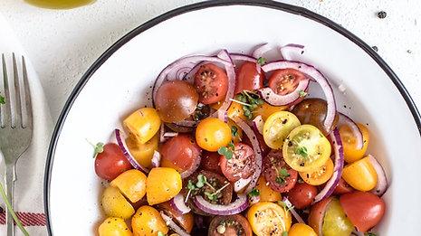 Salada três cores