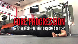 FOREARM SUPPORTED SUPINE CORE PROGRESSION