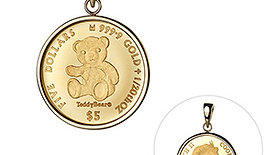 Pure Gold 2020 Teddy Bear Coin Pendant Top (without gold chain)