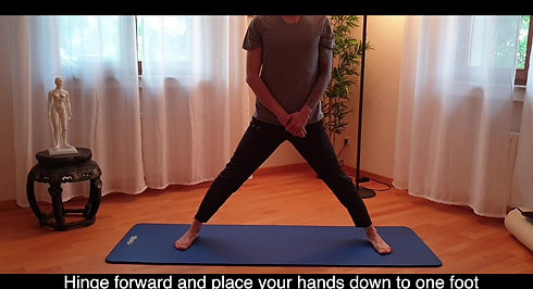Wide-Legged Hamstring to one side stretch (1)