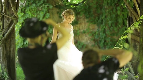 Behind The Scenes of Modern Wedding Magazine's 'Enchanted Garden' Bridal Fashion Editorial
