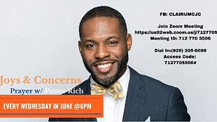 June 23, 2021 - Joys and Concern Wednesday Night Prayer