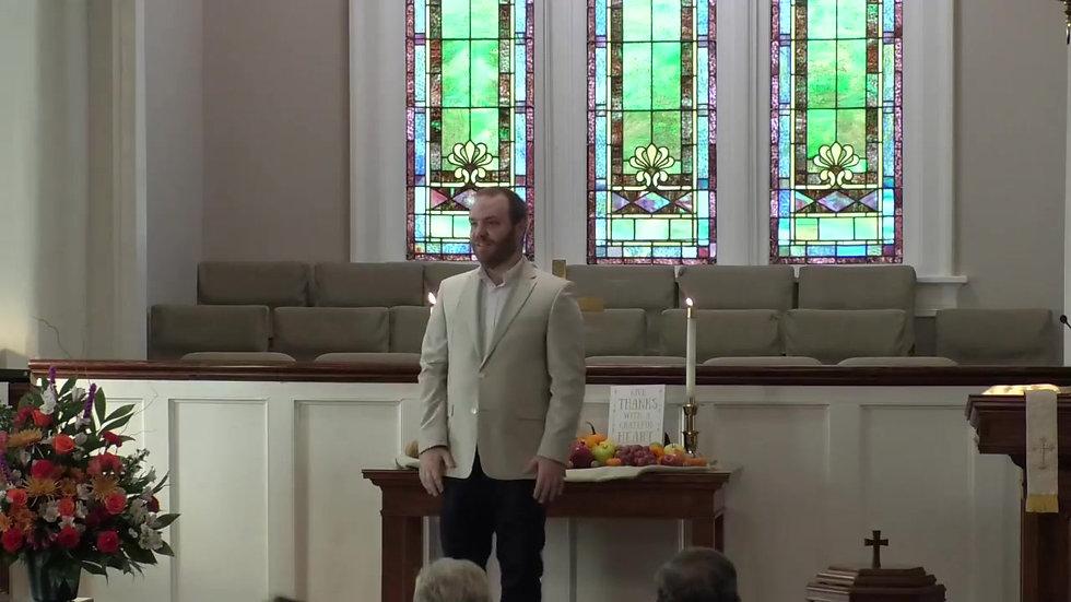 November 22nd Sermon