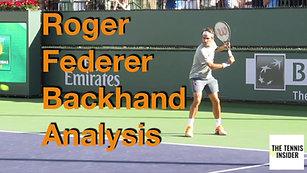 Federer Backhand Analysis
