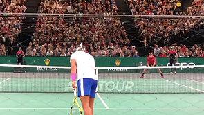 Nadal Tweener vs. Wawrinka Courtside