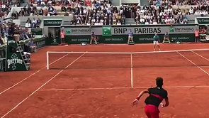 Djokovic Clutch Volley