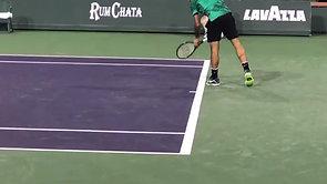 Federer Indian Wells 2017 Court Level
