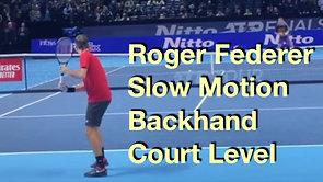 Federer Slow Motion Backhand