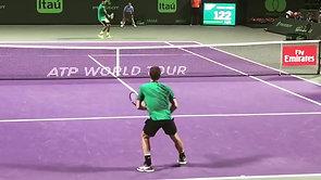 Federer vs. Kyrgios Court Level