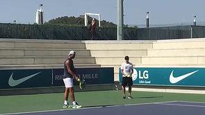 Rafael Nadal Serve Warm-Up